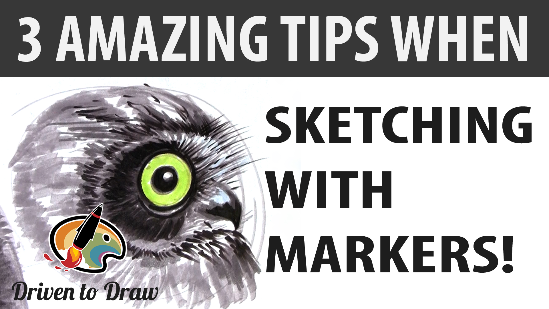 3 AMAZING TIPS WHEN SKETCHING WITH MARKERS
