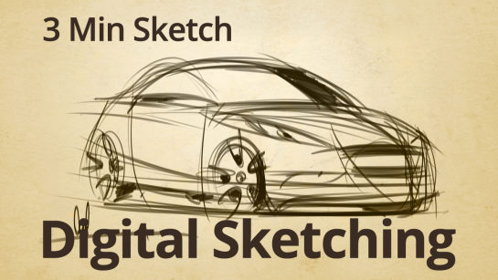 DIGITAL SKETCHING PRACTICE | 3 MIN SKETCH
