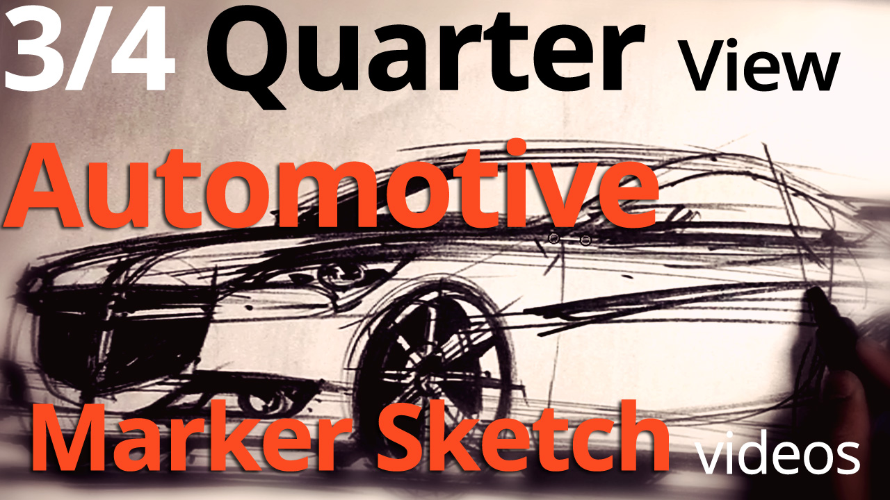 Marker Sketching: Sketching a Car in 3/4 View in REAL TIME
