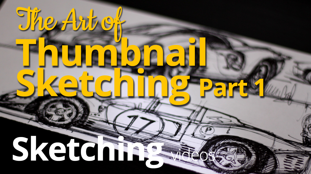 The Art of Thumbnail Sketching – Sketching a Ferrari 330 P4 – Sketch 1