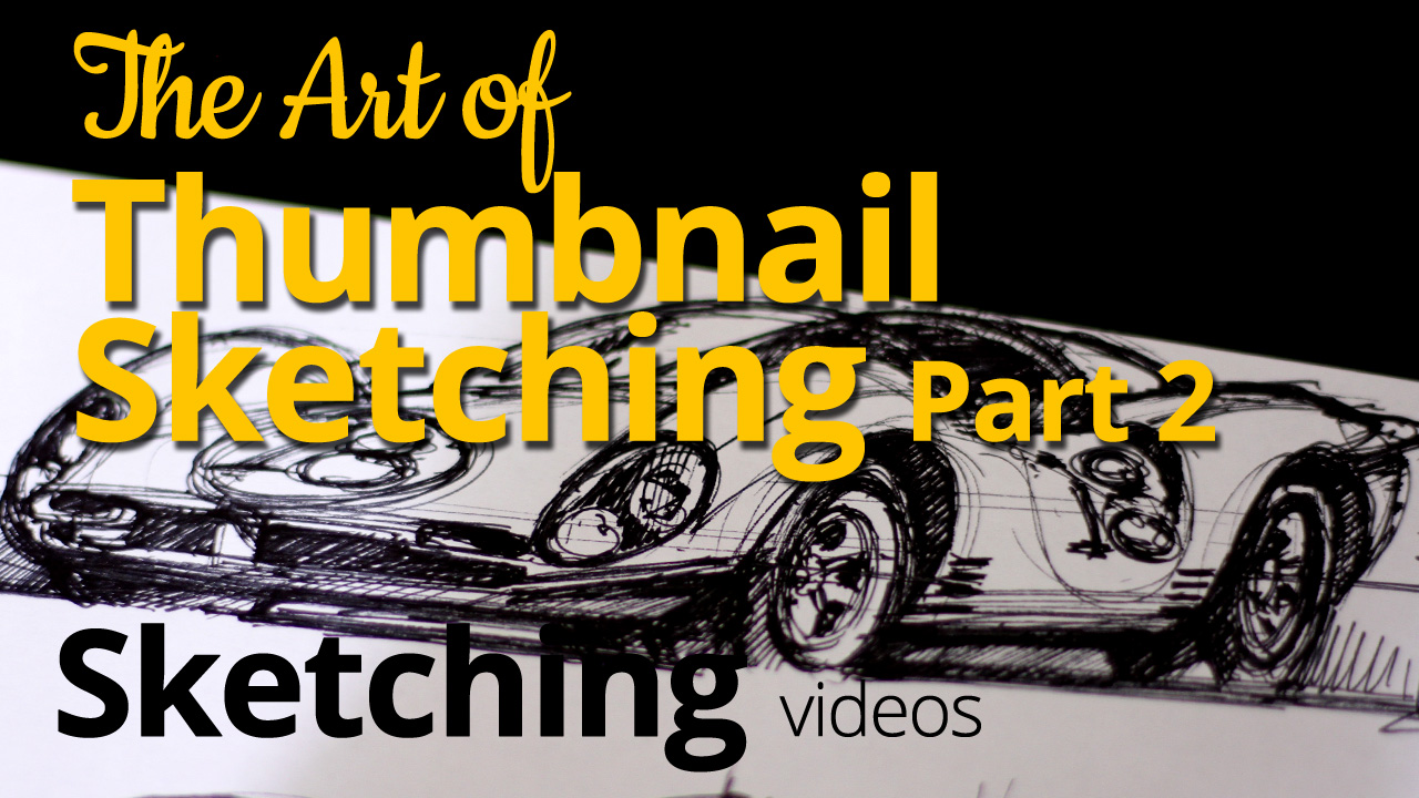 The Art of Thumbnail Sketching – Sketching a Ferrari 330 P4 – Sketch 2