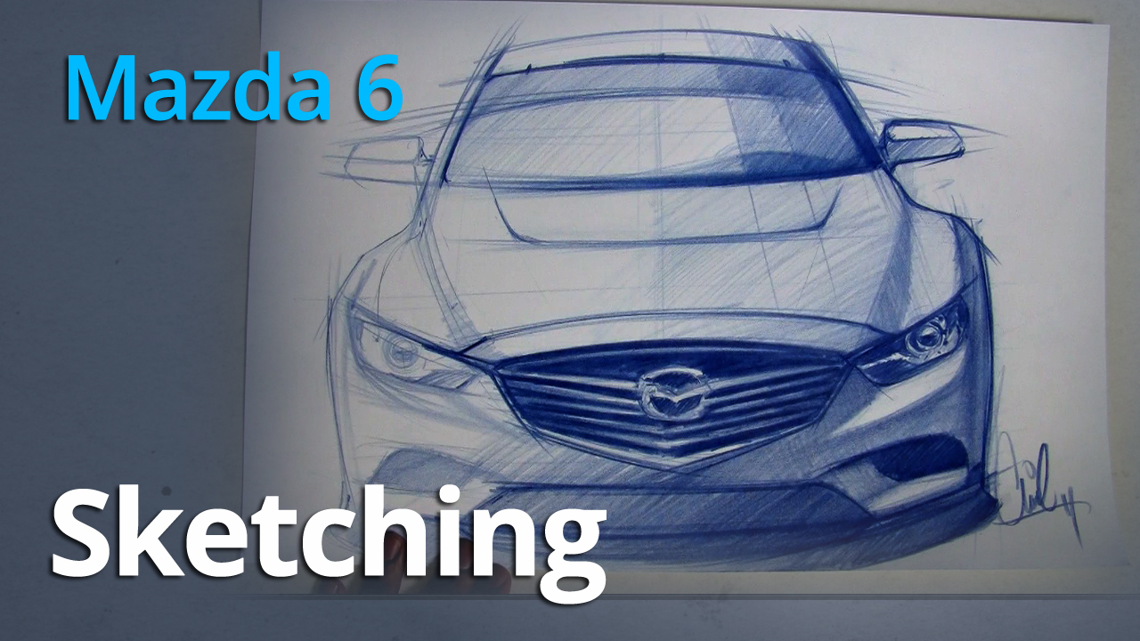 Freehand Sketch of the 2014 Mazda 6