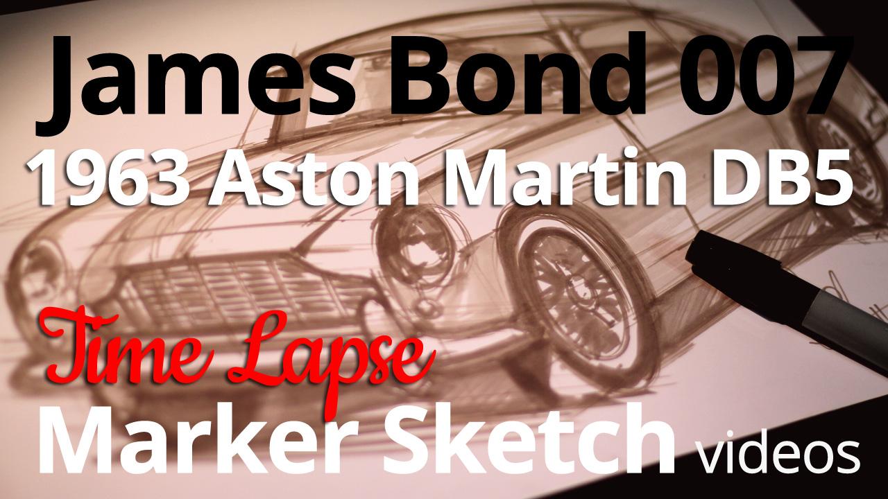 100 Years of Aston Martin 1963 Aston Martin DB5 Sketch