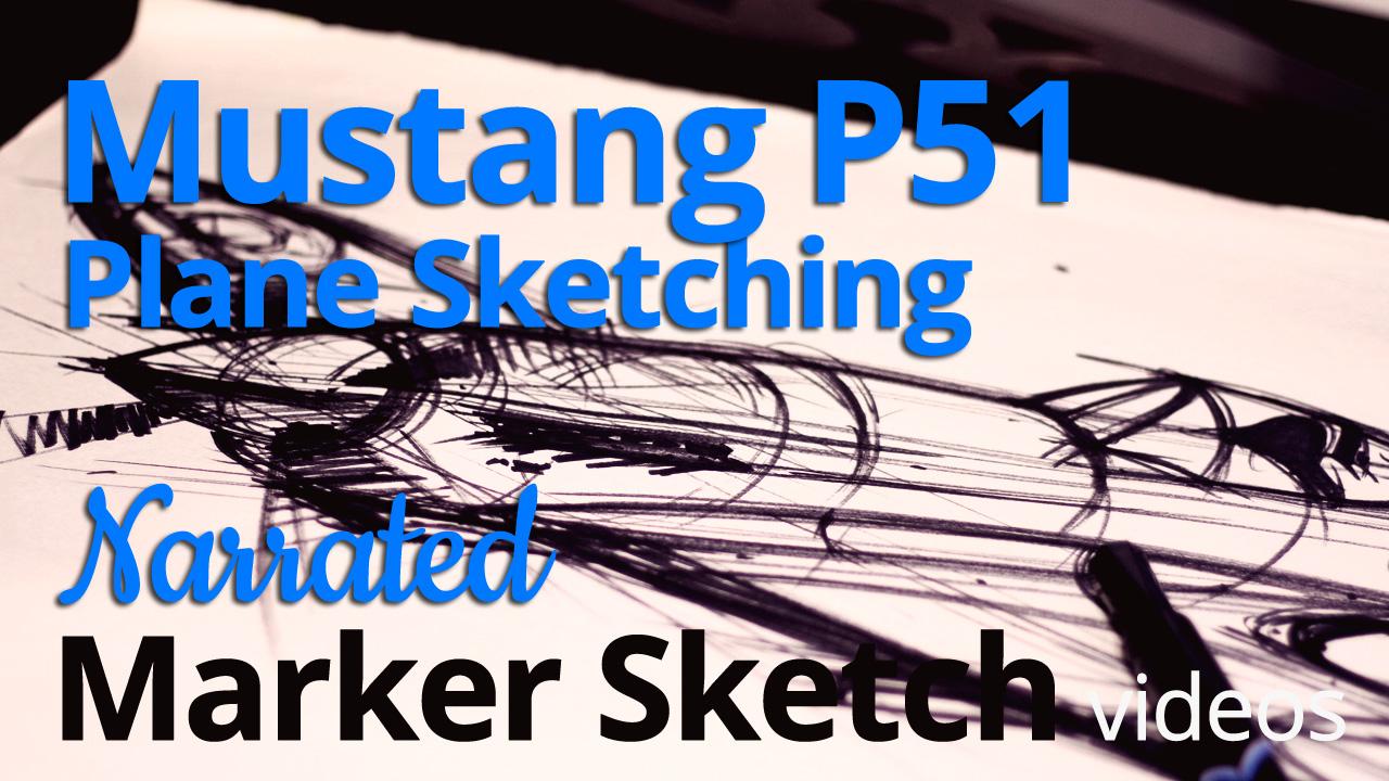 Freehand Sketching – Sketching a Mustang P-51 post image