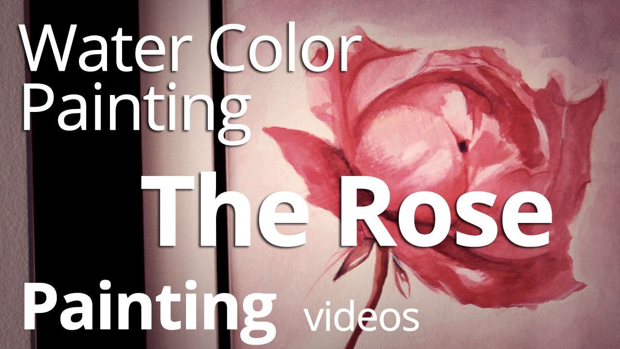 Painting A Rose in Watercolor