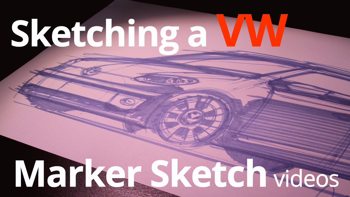 Sketching with Markers: Drawing a Compact Car