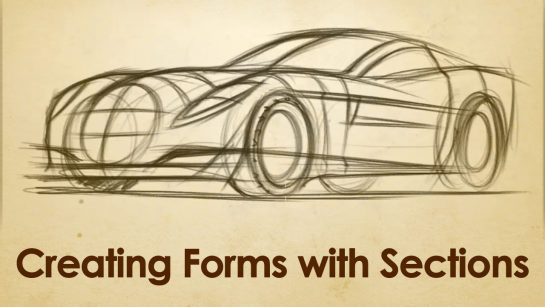 DIGITAL SKETCHING | USING SECTIONS TO CREATE FORM