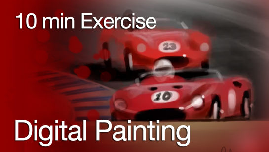 HOW TO DRAW CARS|CREATING A DIGITAL PAINTING IN 10 MIN FLAT