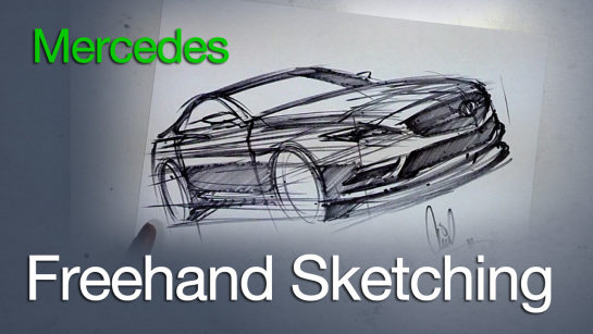Freehand Sketching a Mercedes