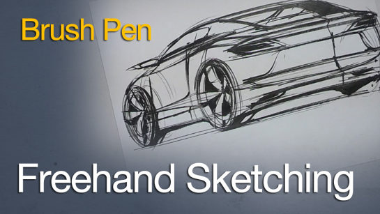 Sketching: Sketching Cars with a Brush Pen