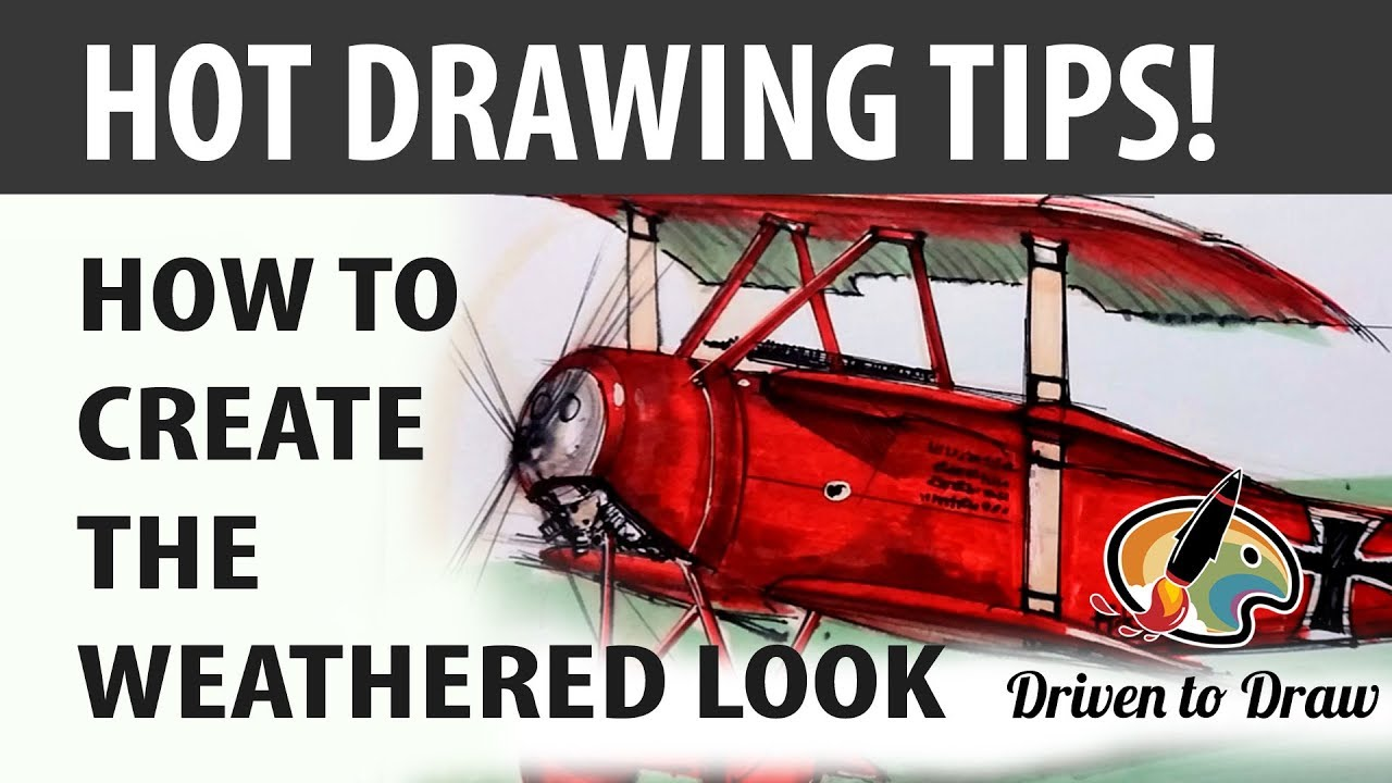 HOT DRAWING TIPS – HOW TO ADD WEATHERED EFFECTS FOKKER DR. I