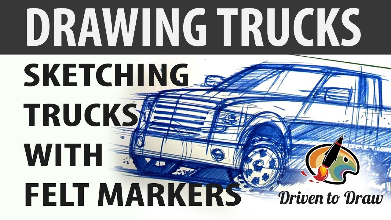 DRAWING AND SKETCHING TRUCKS