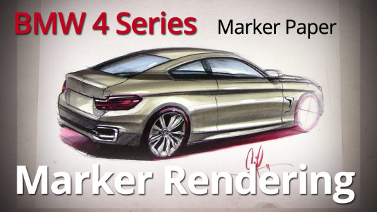 Marker Rendering: Rendering 2014 BMW 4 Series Coupe with Markers