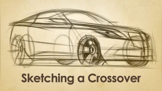 Digital Sketching: Sketching Sport Utility Crossover Vehicles