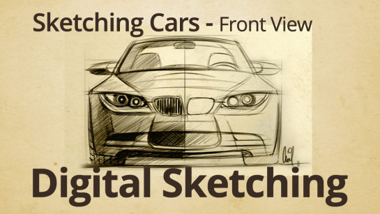 Digital Sketching: Drawing the Front View of a BMW