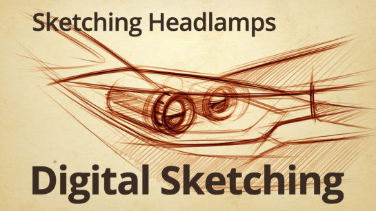 DIGITAL SKETCHING|HOW TO DRAW HEADLAMPS