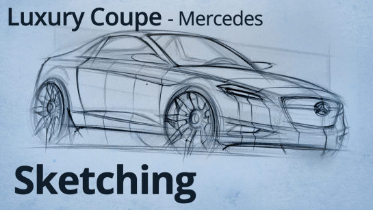 Sketching: Sketching a Luxury Mercedes Sports Coupe with Sections