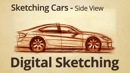 DIGITAL SKETCHING|SPORTS CARS SIDE VIEW SKETCH
