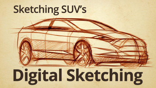 DIGITAL SKETCHING | SKETCHING CROSSOVER VEHICLES