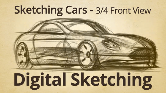 DIGITAL SKETCHING | HOW TO DRAW A SPORTS CAR COUPE