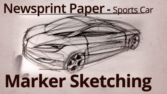 Sketching with Markers: Drawing Cars on Newsprint Paper 4