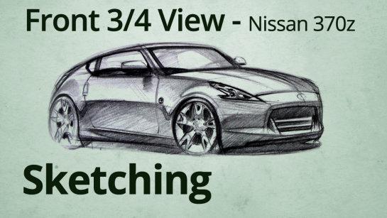 Nissan 370z  Car Designer Sketch