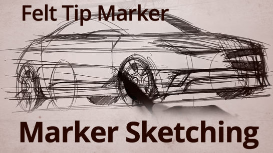 SKETCHING WITH MARKERS | CONCEPT CARS SKETCH