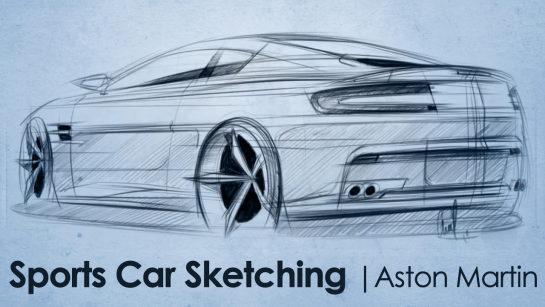Digital Sketching: Aston Martin Vantage Designer Sketch!
