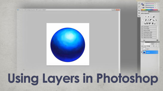 DIGITAL PAINTING|INTRO TO LAYERS IN PHOTOSHOP PART 1